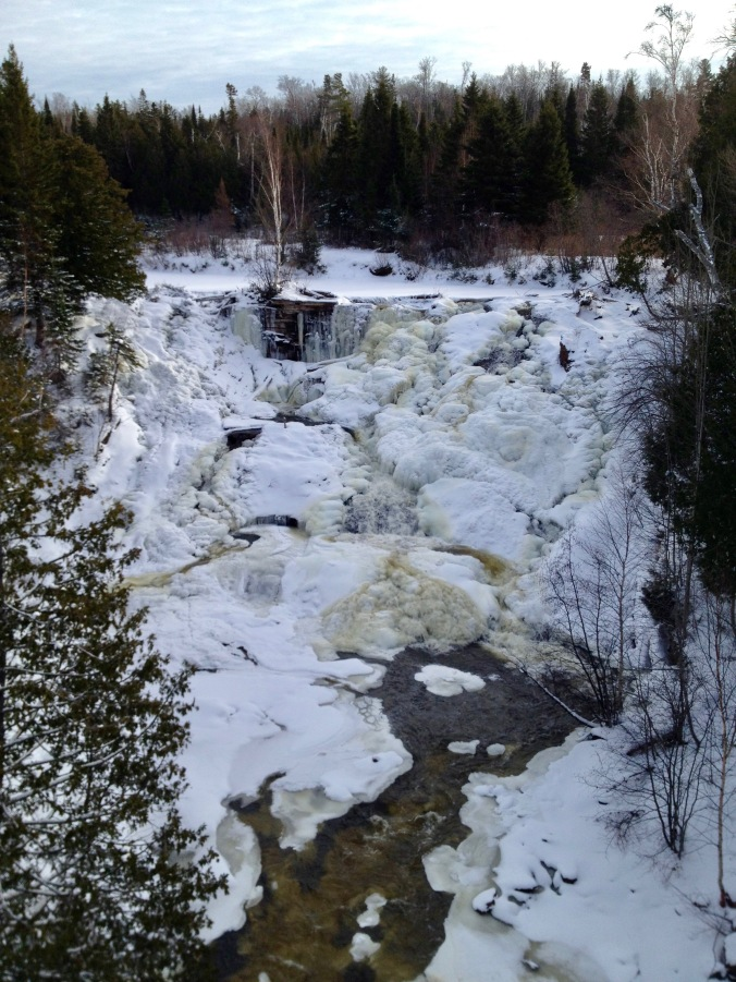 Eagle River Falls, Frozen